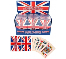 UNION JACK PLAYING CARDS PLASTIC COATED