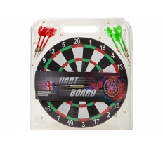 "12"" DART BOARD WITH 6 METAL DARTS"