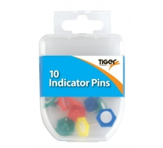 Essential 10 Indicator Pins Coloured