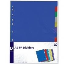 12 PACK A4 DIVIDERS