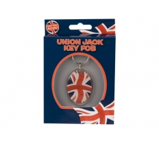 UNION JACK METAL KEYRING