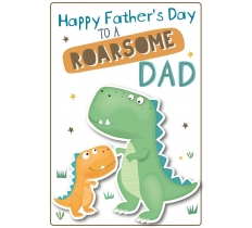 FATHERS DAY ROARSOME DAD POPPET
