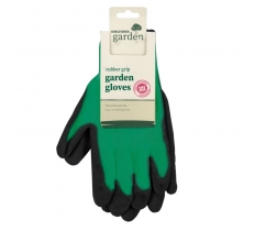 GARDENING MEDIUM RUBBER GRIP GARDEN GLOVES