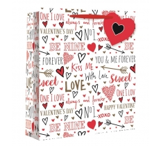 LOVE SKETCH EXTRA LARGE WIDE GIFT BAG