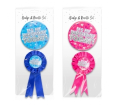 BIRTHDAY PARTY BADGE SET 2 PACK