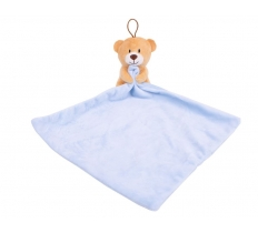 PLUSH TOY AND COMFORTER BLANKET BLUE