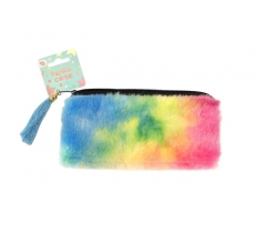 FLUFFY PASTEL PENCIL CASE