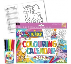 2020 KIDS COLOUR YOU OWN A4 CALENDER WITH 6 FIBRE PENS