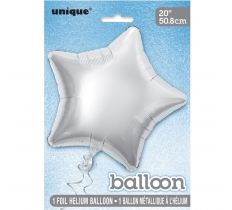20'' STAR SILVER FOIL BALLOON