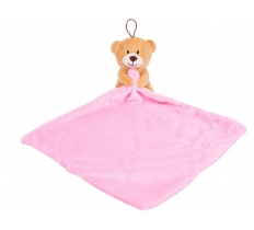 PLUSH TOY AND COMFORTER BLANKET PINK