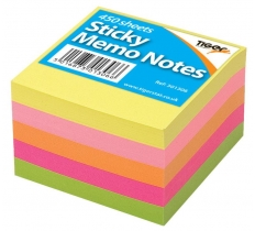 Neon Sticky Memo Notes 75mm x 75mm 450 Sheet Block