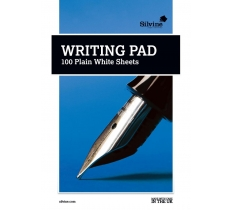 SILVINE MEDIUM A5 WHITE PLAIN WRITING PAD 100 SHEETS