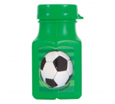 3D Soccer Mini Bubble Bottles 4PACK
