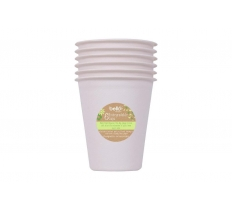 BIODEGRADABLE BAGASSE CUPS PK 6