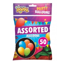 Assorted balloons 50 Pack