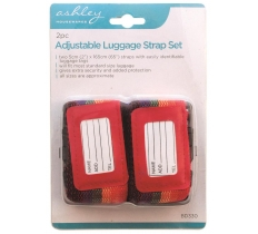 BLACKSPUR 2PC ADJUSTABLE LUGGAGE STRAP SET