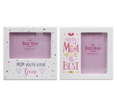 MUM COLOUR PRINTED PHOTO FRAME 10cm x 15cm