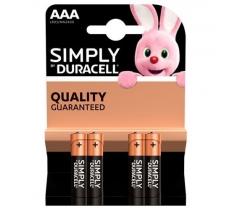 Duracell Simply AAA 4 PACK x 10 (1.35 Each)