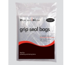 Grip seal bags - A5 (25 Pack)