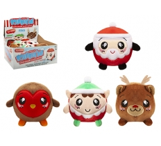 "3.5"" SQUISHIMI PLUSH BALLS CHRISTMAS"