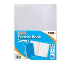 Tiger A4 Exercise Book Cover Clear 3 Pack