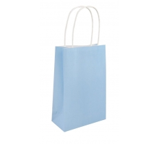 BABY BLUE BAG WITH HANDLES 14X21X7CM