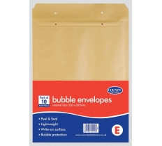 County Manilla Bubble Envelopes 10's E 220 x 265mm