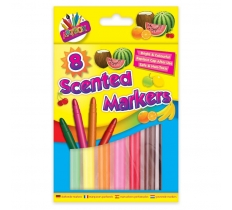 8 SCENTED THICK JUMBO MARKERS