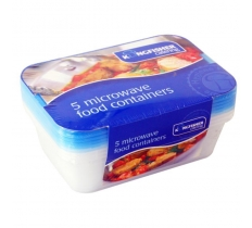 Microwave Food Container with Blue Lids