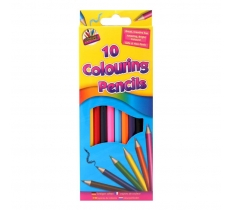 10 Full Size Colour Pencils