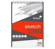 SILVINE A4 TWIN WIRE HIGH QUALITY ARTIST PAD 30 SHEETS