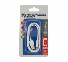 Status 1m Micro USB to USB Charging & Data Transfer Cable