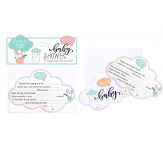 BABY SHOWER ADVICE CARD 12 PACK
