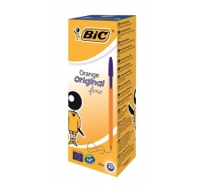 BIC ORANGE ORIGINAL FINE BALLPOINT PEN BLUE X 20