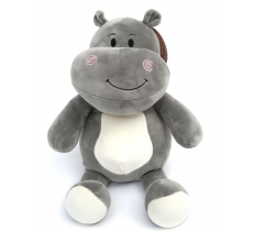 30CM SUPERSOFT GREY HIPPO