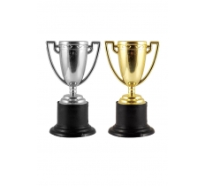 MINI 10CM TROPHY GOLD OR SILVER