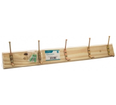 BLACKSPUR 5 HOOK HAT AND COAT RACK - PINE