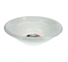 5 Pack of 10inch White Disposable Plastic Bowls