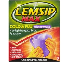 Lemsip Max Strength Blackcurrant 5 Pack X 6