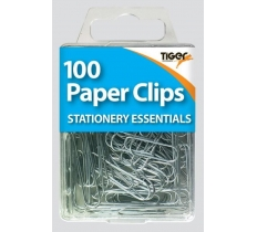 Essential 100 Paper Clips Steel