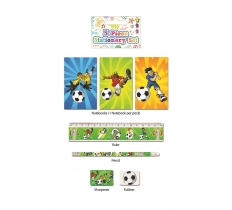 FOOTBALL STATIONERY SET 5 PACK