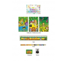 JUNGLE STATIONERY SET 5 PACK