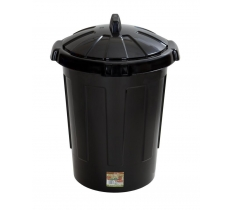 Eden 80 Litre Dustbin Black with Lid