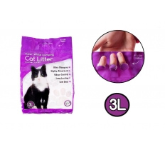 CAT LITTER WHITE CLUMPING SCENTED 3L