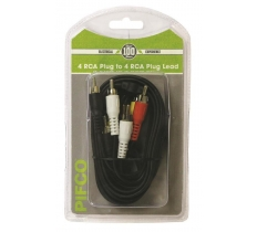 4 RCA to 4 RCA Audio Lead 2M