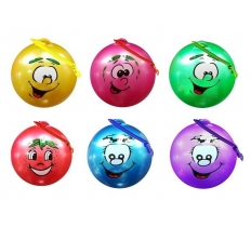 "10"" Smiley Face Fruit Scented Football With Spiral Keyring"