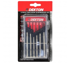 DEKTON 6 PIECE PRECISION SCREWDRIVER SET