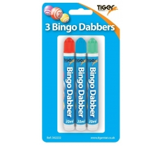 Pack of 3 bingo dabbers-blister packed