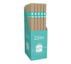 Brown Kraft Parcel Wrapping Paper 2.5m