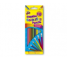 10 Erasable Coloured Pencils